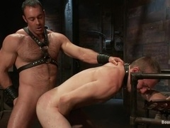 Lewd gay Cody Allen gets tortured and fucked by horny daddy Brad Kalvo