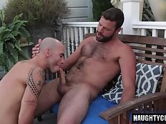 Hairy gay anal sex with cumshot