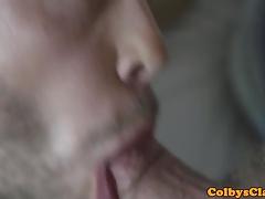 Muscular jock fucks rimmed hunk balls deep