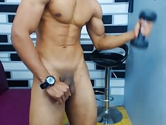 2. Colombian Handsome Boy On Cam, Nice Cock & Bubble Ass