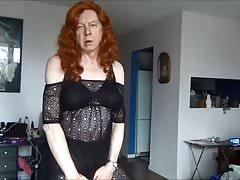 Naughty Gigi - Redhead in black