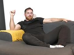 Jonas' torso tightens, his balls disappear & his cock spits