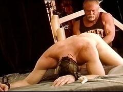 Pounding CBT virgin hunk balls with fist
