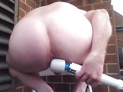 Joey D new secret place anal dildo curvy smooth butt cheek