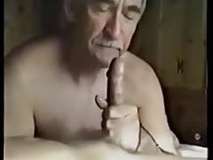Older sucks and swallow cum