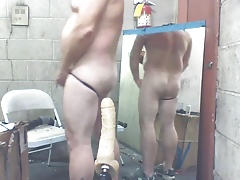 Joey D and his machine pumping his cute smoot wet butt