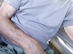 Handsome Grandpa Sucks in His Car