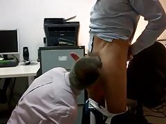 Str8 daddies office bj
