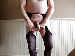 black tights and white panties
