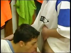 Two gay football studs in hot fucking coition