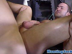 Ripped stud rimming and fucking jock