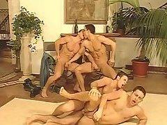 Lewd Gay Guys Group Sex