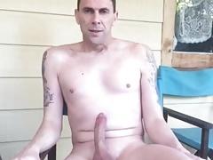 Aussie nudist with a boner