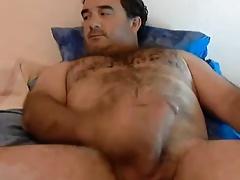 Amazing bear jerking off