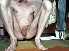 Naked Man hairless uncut