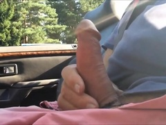 Old Man Car Stroking