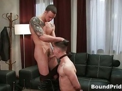 Cliff and furthermore Troy in aroused extreme man-loving bondage fetish movie