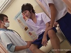 Kinky Medical Fetish Gay Asian Threesome