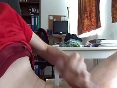 Skinny guy cumming a lot