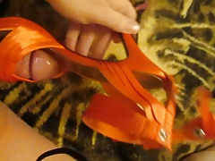 Fucking Sexy Orange Strappy High Heels