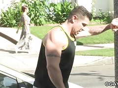 Young guy gets fucked by his muscular neighbour