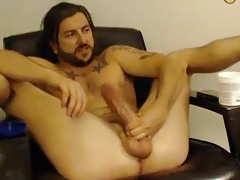 Hunk dude with big cock and hot ass