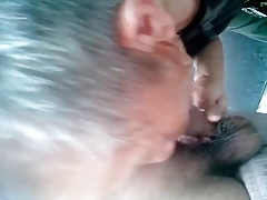 Chinese grandfather takes the sperm in his mouth