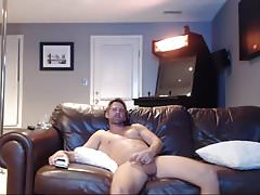 dad jerking on couch (webcam)