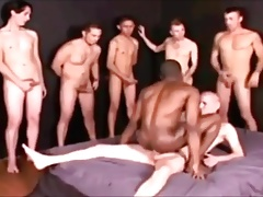 Big White Cock in Black Boy Pussy