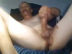 Mature shaved cum