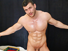 Fully contolled sweat and cum slave to my hairy muscle