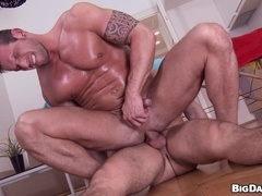 Sexy gays Marek and Diego have ardent banging after taking a shower