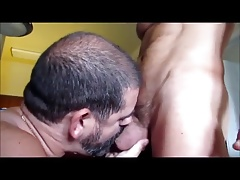 Big dick deep sucking