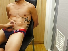Guy slave bound tape gagged and jerked off