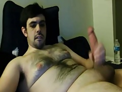 Hot chunky cub with huge cock shooting