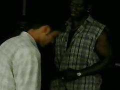 Interracial Threesome with Black Gay Gangsta
