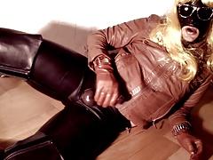 GLOVER - brown leather orgasm