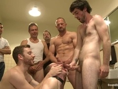 A gay gets his ass fucked with three dildos at a time and loves it