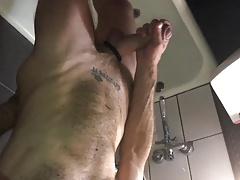 Sucking dick in the bathroom