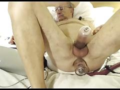 grandpa play and cum on webcam