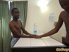African twinks bareback fuck on couch