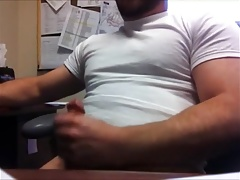 Horny Bear at the Office ( Jerk Off & Cum )