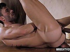Tattoo gay anal sex with cumshot