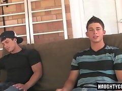 Hot gay rimjob and cumshot