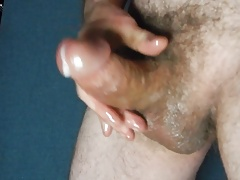 Slippery Sausage. Oil Masturbation