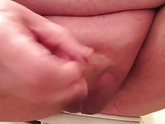 Playing with my freshly shaved dick