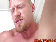 Handsome married straight dude Max stuffed with a big dick
