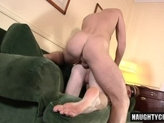 Hot gay rimjob and cumshot