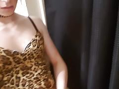 Ashley Valentine modeling new clothes