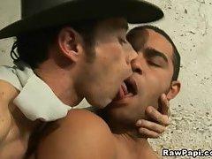 Two Latino Gay Massive Anal Drilling
